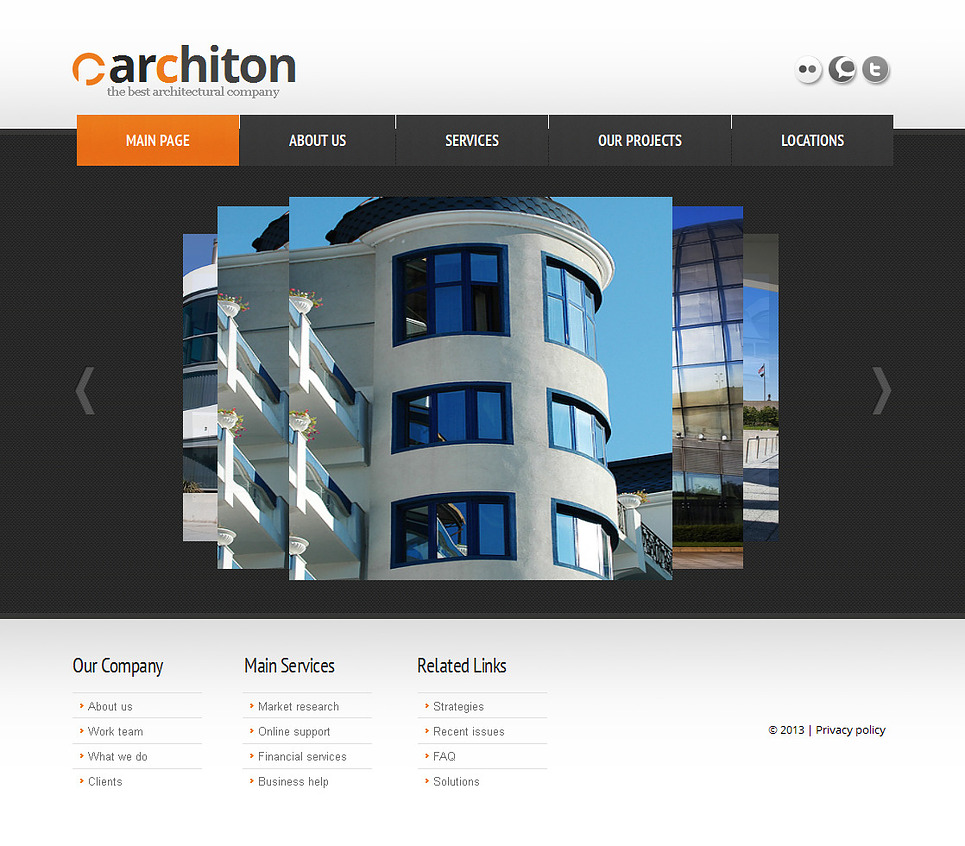 Architecture Website Template with Scrolling Photo Gallery - image