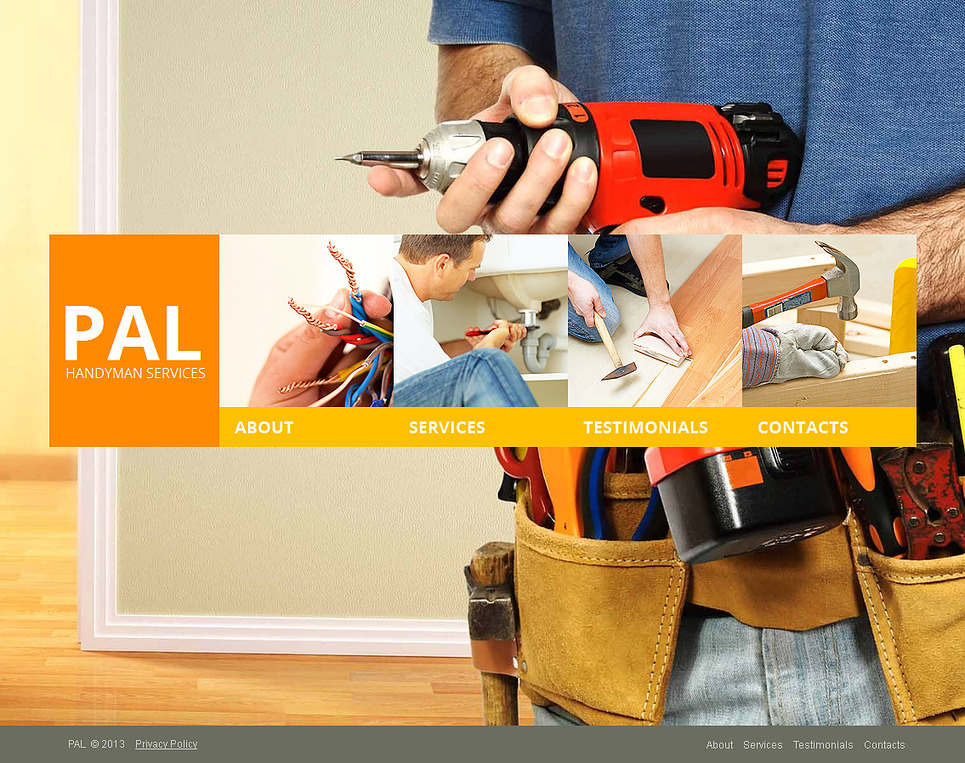 Home Repairs Website Template with Background Gallery - image