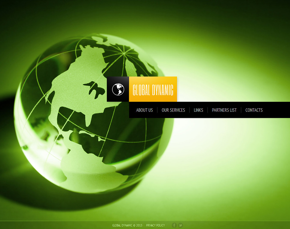 Consulting Website Template with a Globe Model - image