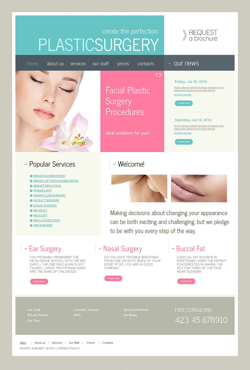 Plastic Surgery Website Template with jQuery Content Slider - image