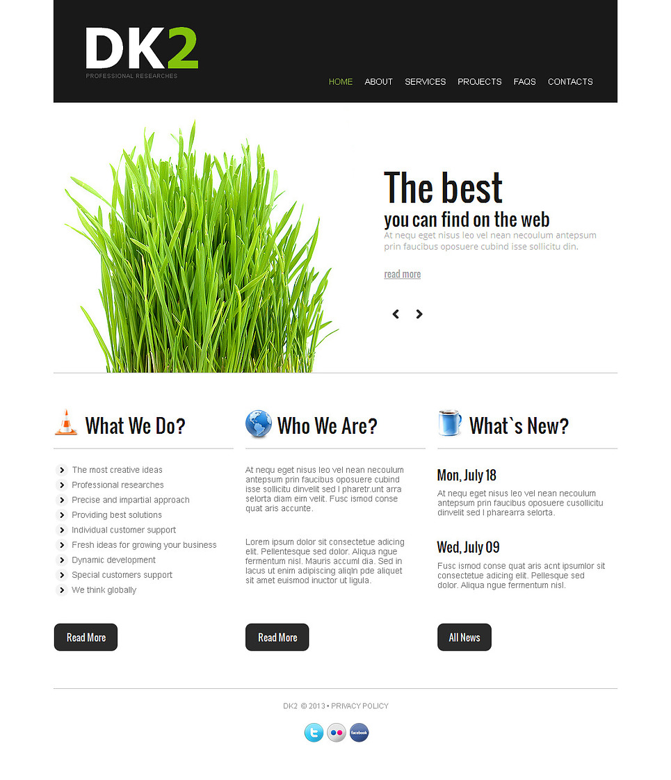 Black and White Web Template for Business Companies - image