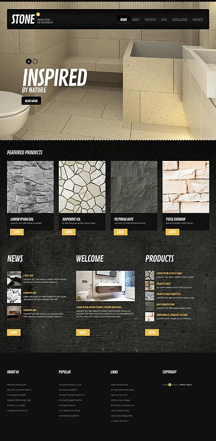 Black Stone - Responsive Interior Design Drupal Template