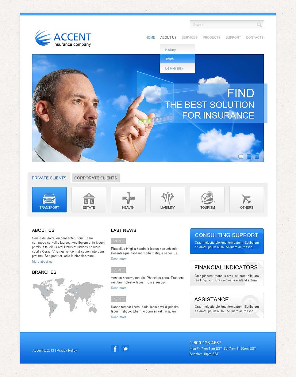 Insurance Responsive Website Template #43328