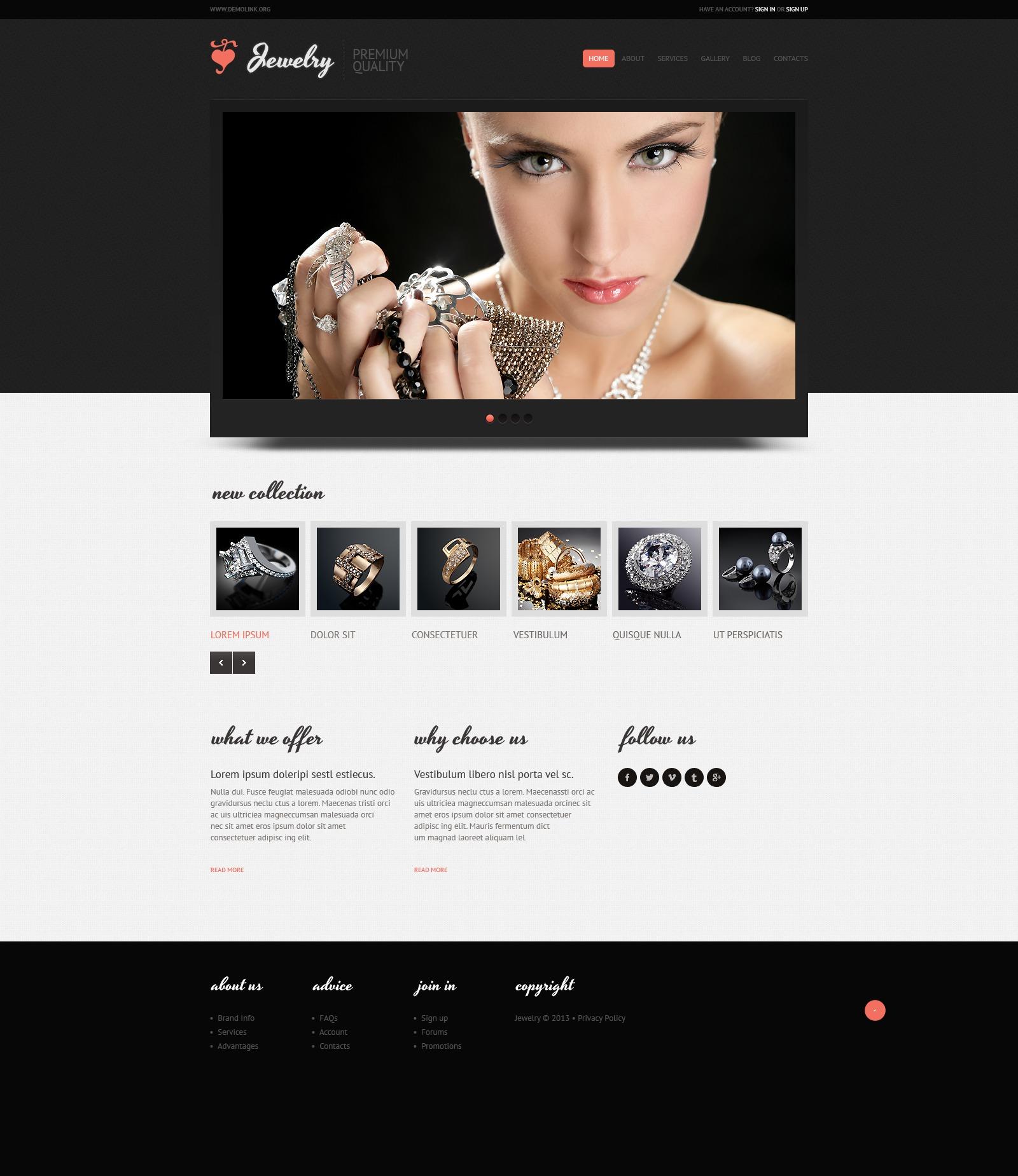 Template joomla per un sito di gioielli for Siti cinesi gioielli