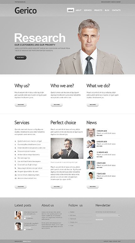 Gerico - Best Responsive Management WordPress Theme