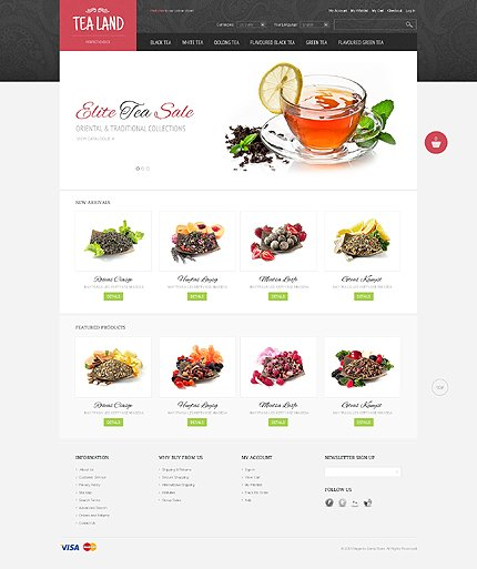 Tea land - Healthy Tea Shop Magento Theme