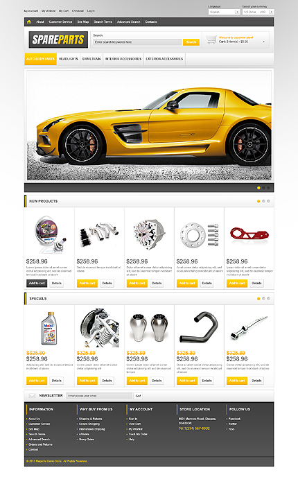 Spare parts - Useful Spare Parts Magento Theme