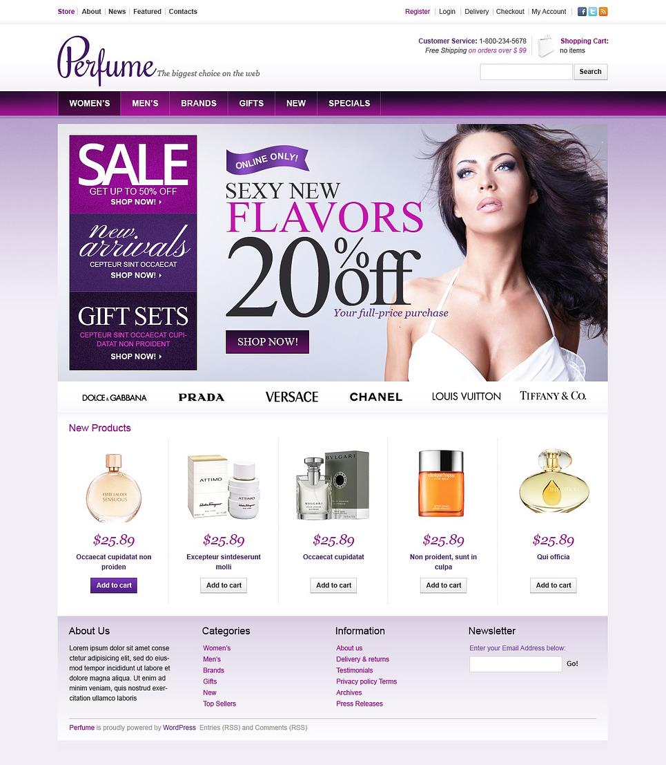 Exquisite Aroma Jigoshop Perfume Store Theme