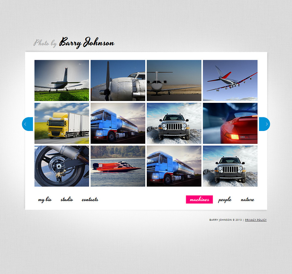 Art and Photography Web Template with Grid Gallery of Thumbnails - image