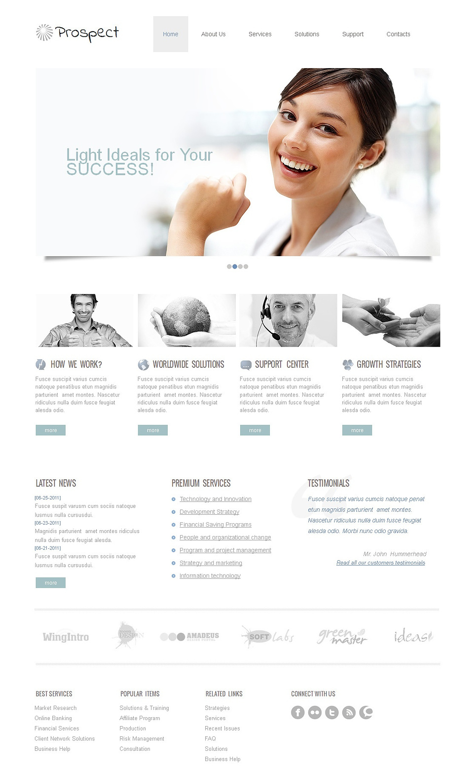 White Space Business Website Template Done in Clean Style - image