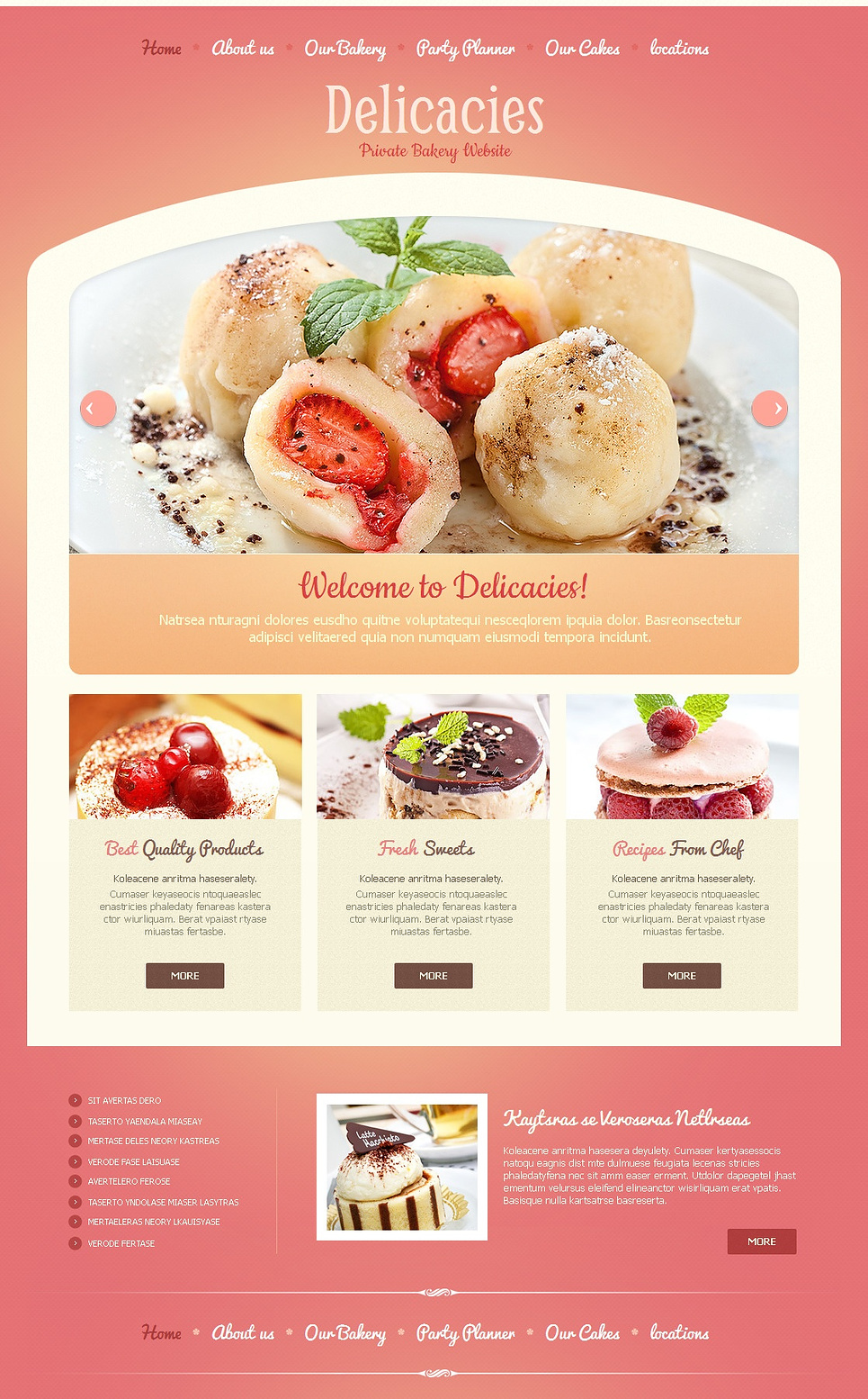 Bakery Web Template with Gentle Pink Design - image