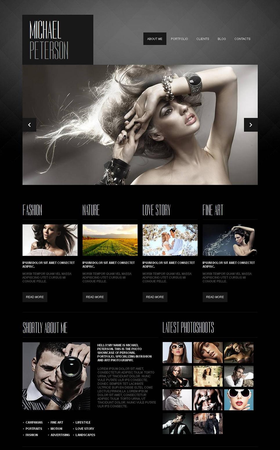 MotoCMS HTML Шаблон #43397 из категории Арт и фото - image