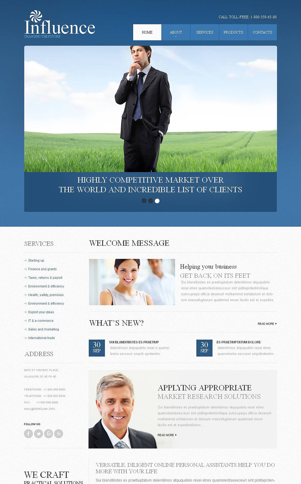 Investment Website Template with a jQuery Slider - image