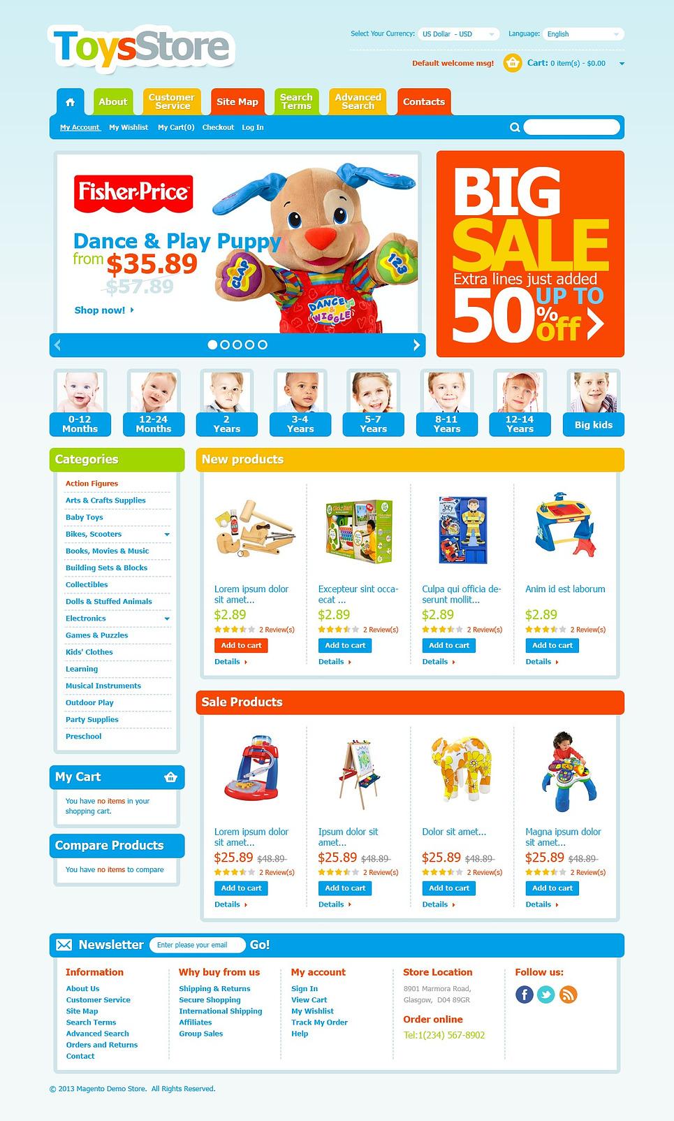 Fantastic Children's Toys Magento Theme