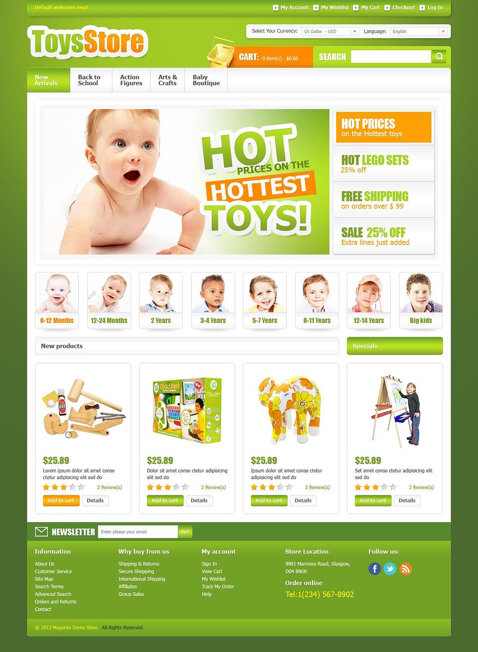 Wonderful Toys Store Magento Theme