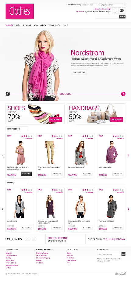 View live Demo for Women Apparel Store - Responsive Magento Fashion Theme