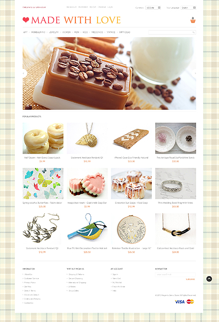 Ultimate Collection Of Magento Handicrafts Themes