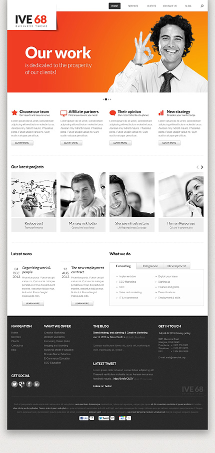 IVE68 - Best Marketing Responsive WordPress Theme