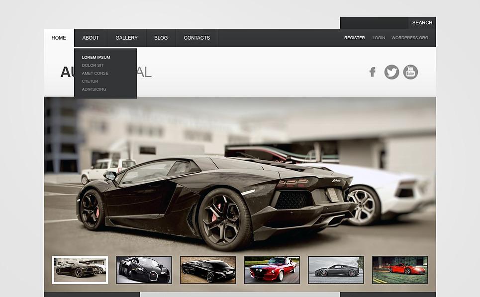 Gray Car WordPress Theme New Screenshots BIG