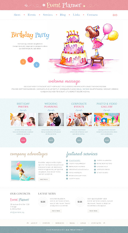 Website Template #43468