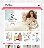 Bridal Gowns & Accessories - PrestaShop Theme #43472 by Di