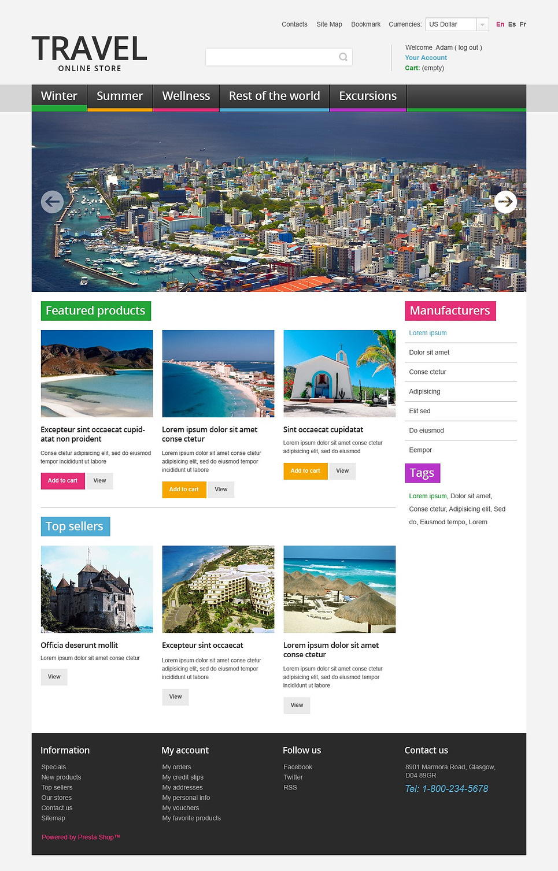Impressive Travel Online Store PrestaShop Theme