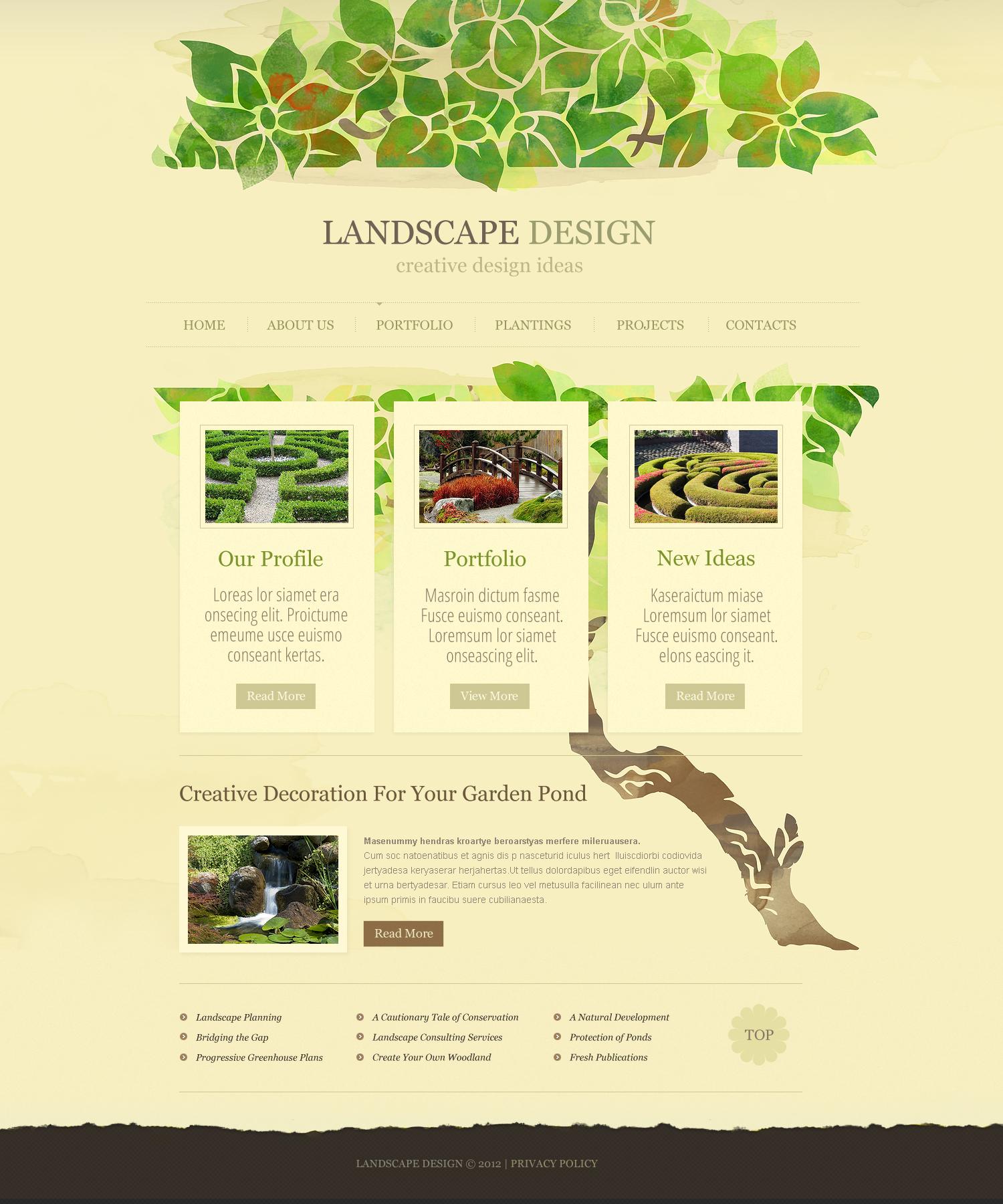 Landscape Design Flash Cms Template 43500