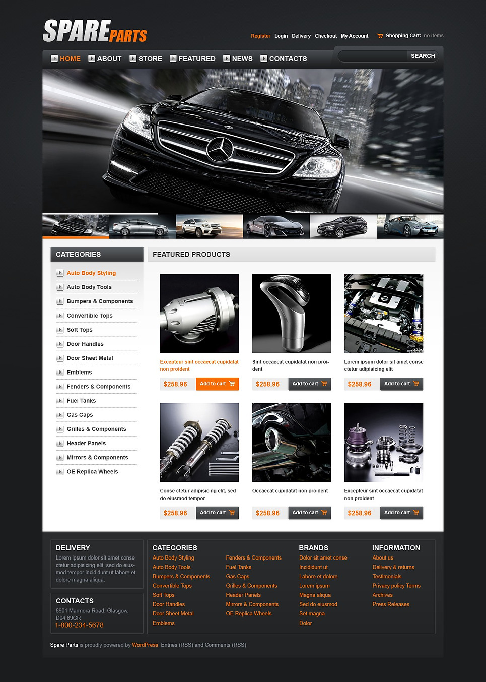 Great Looking Spares JigoShop Theme