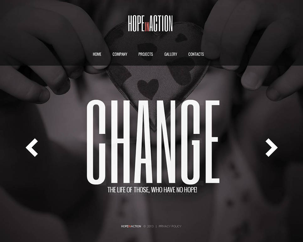 Black and White Charity Website Template - image