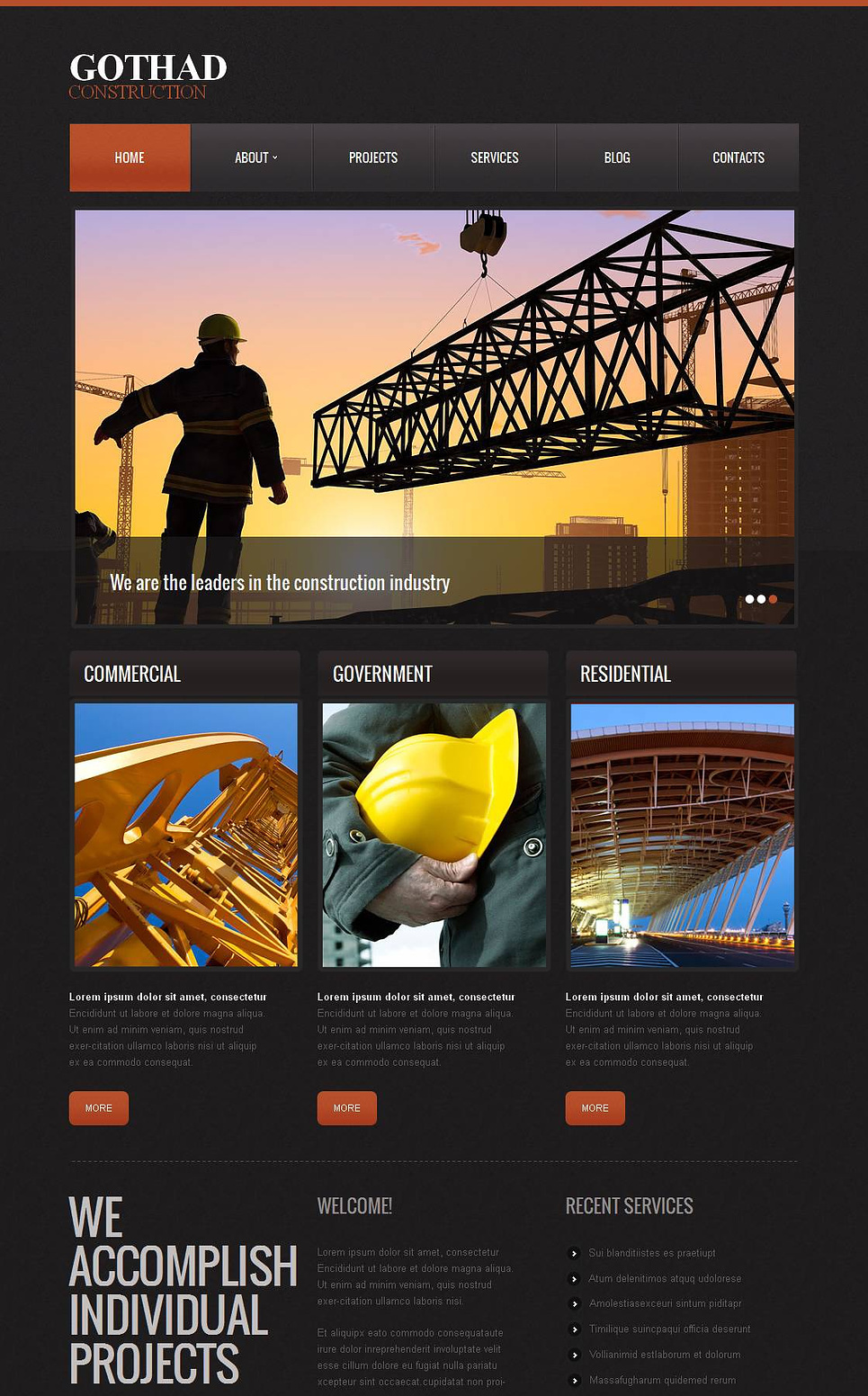Architecture Website Template for Construction Companies - image