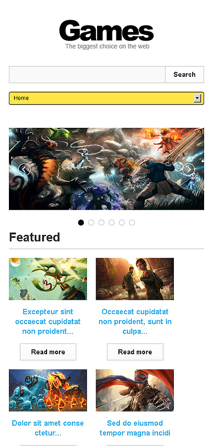 games responsive website template web design templates website templates download games. Black Bedroom Furniture Sets. Home Design Ideas