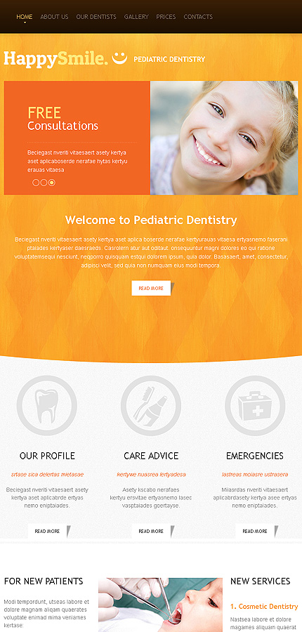 dentistry responsive website template web design templates website templates download. Black Bedroom Furniture Sets. Home Design Ideas