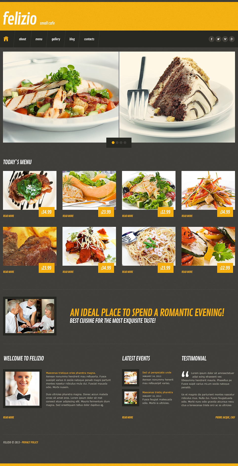 Black Café WordPress Theme New Screenshots BIG