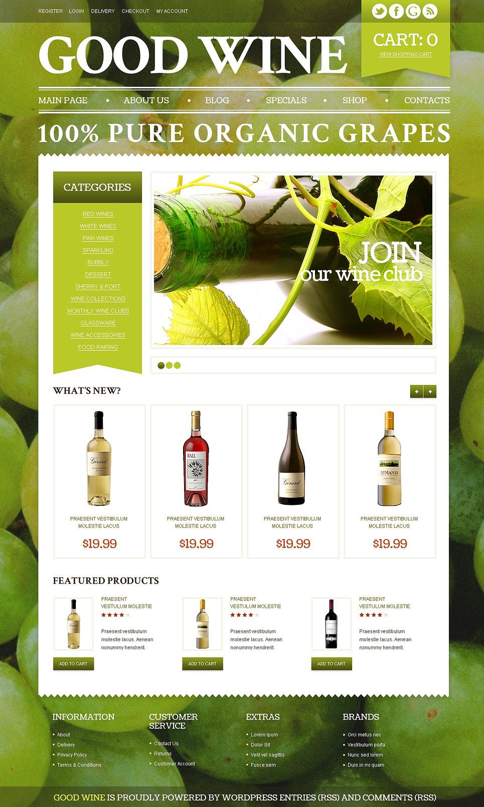 Commodious Good wine JigoShop Theme