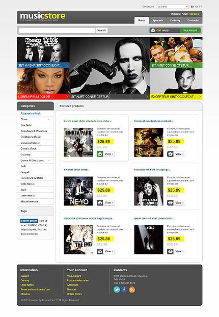 Music Store - Best Prestashop Music Store Themes