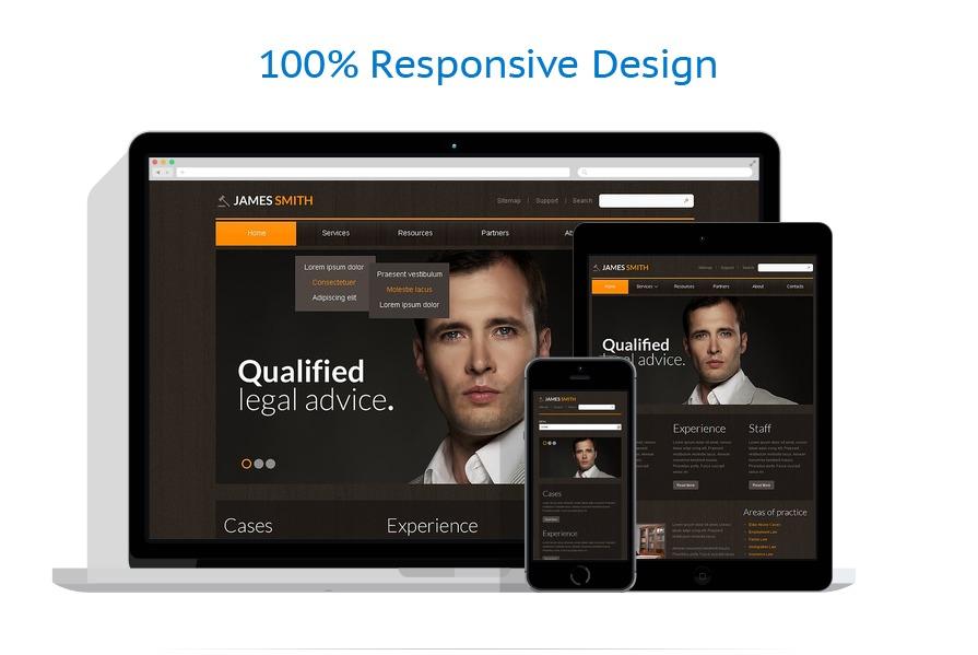 lawyer responsive website template 43584. Black Bedroom Furniture Sets. Home Design Ideas