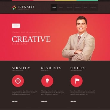 Advertising agency free website templates for free download about ...