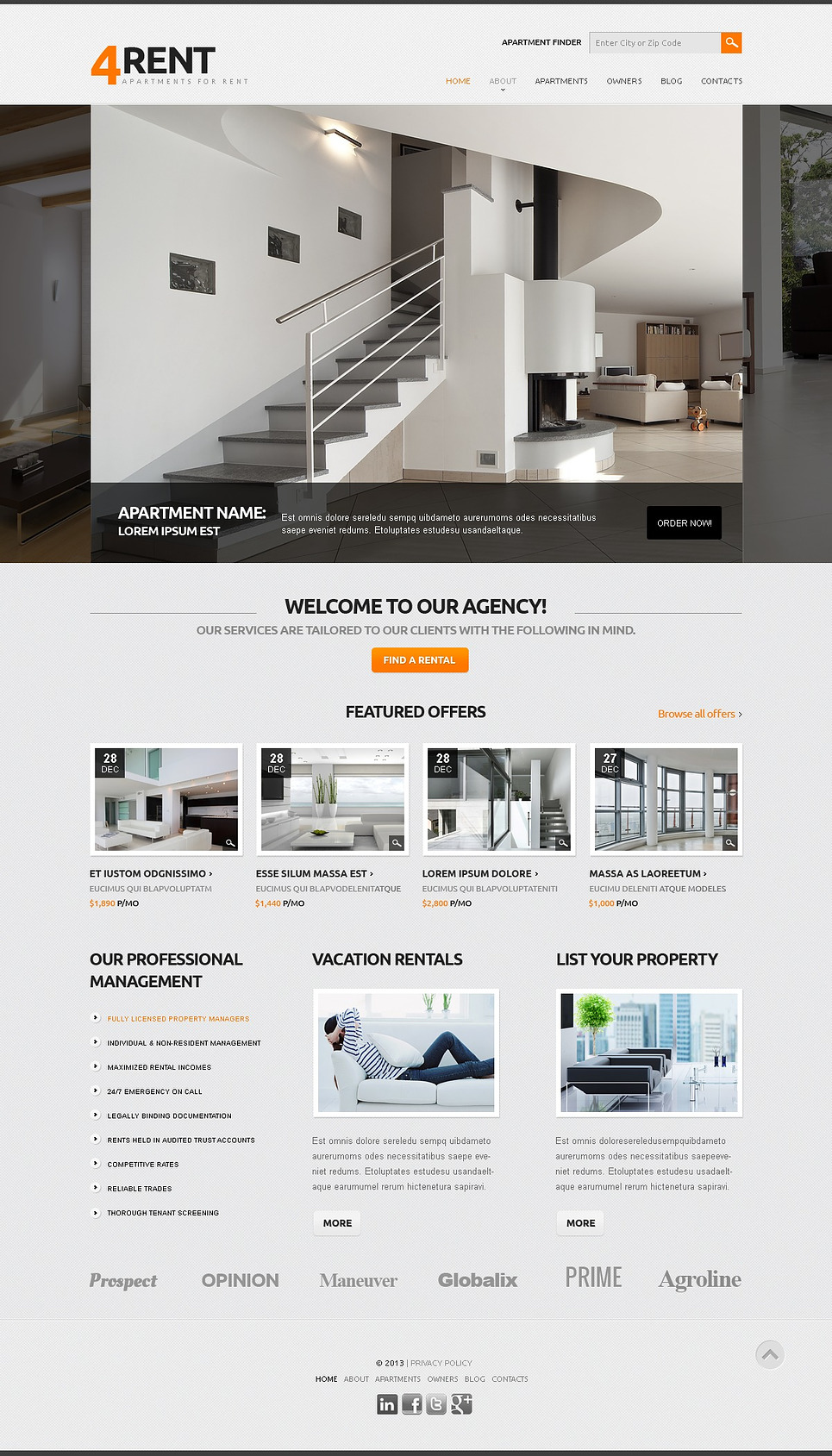 Luxury Living Responsive Real Estate Joomla Template