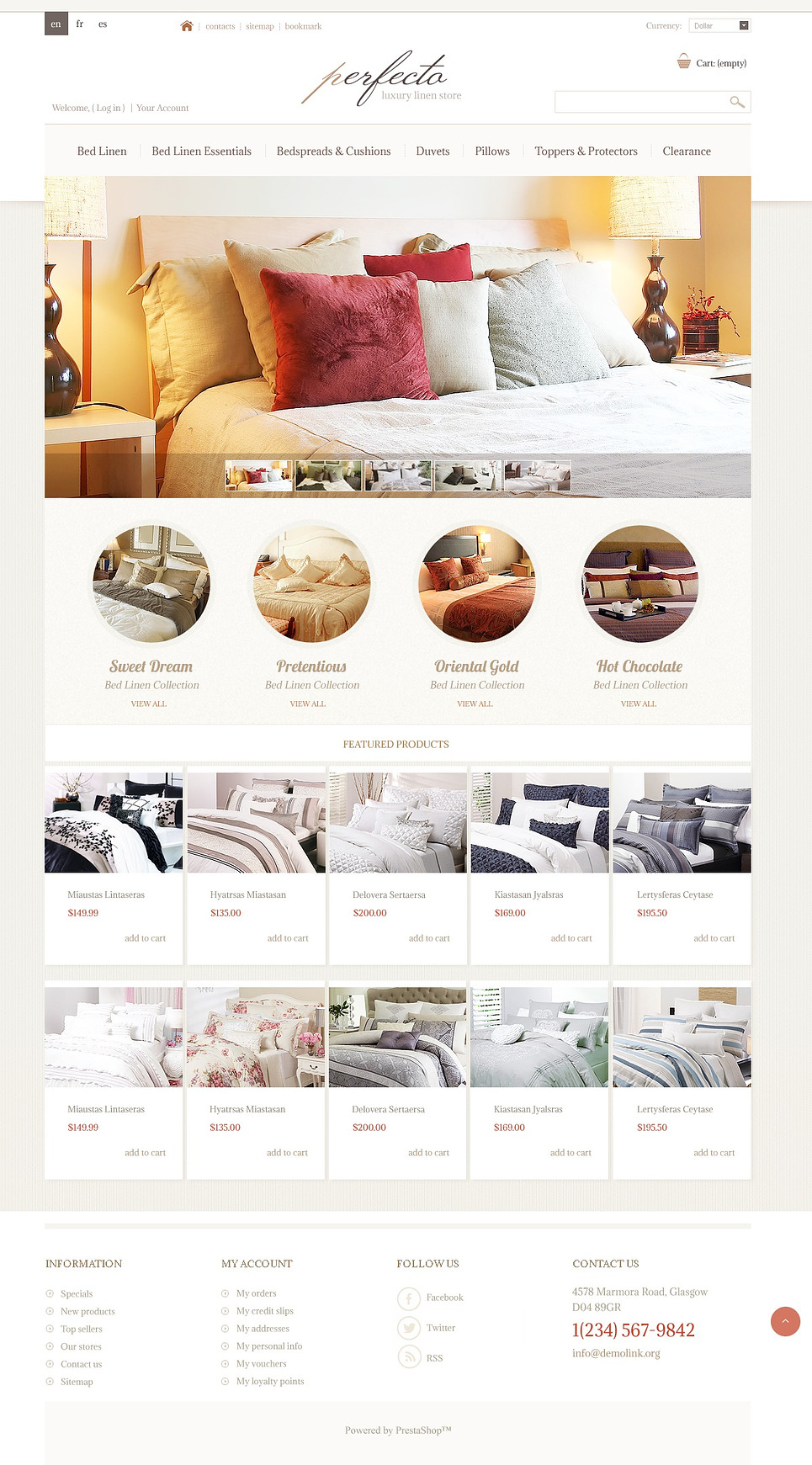 Clean Luxury Linen Store PrestaShop Theme