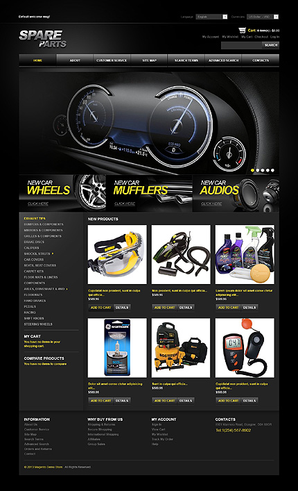 Spare parts - Ultimate Online Car Stores and Vehicle Store Magento Theme