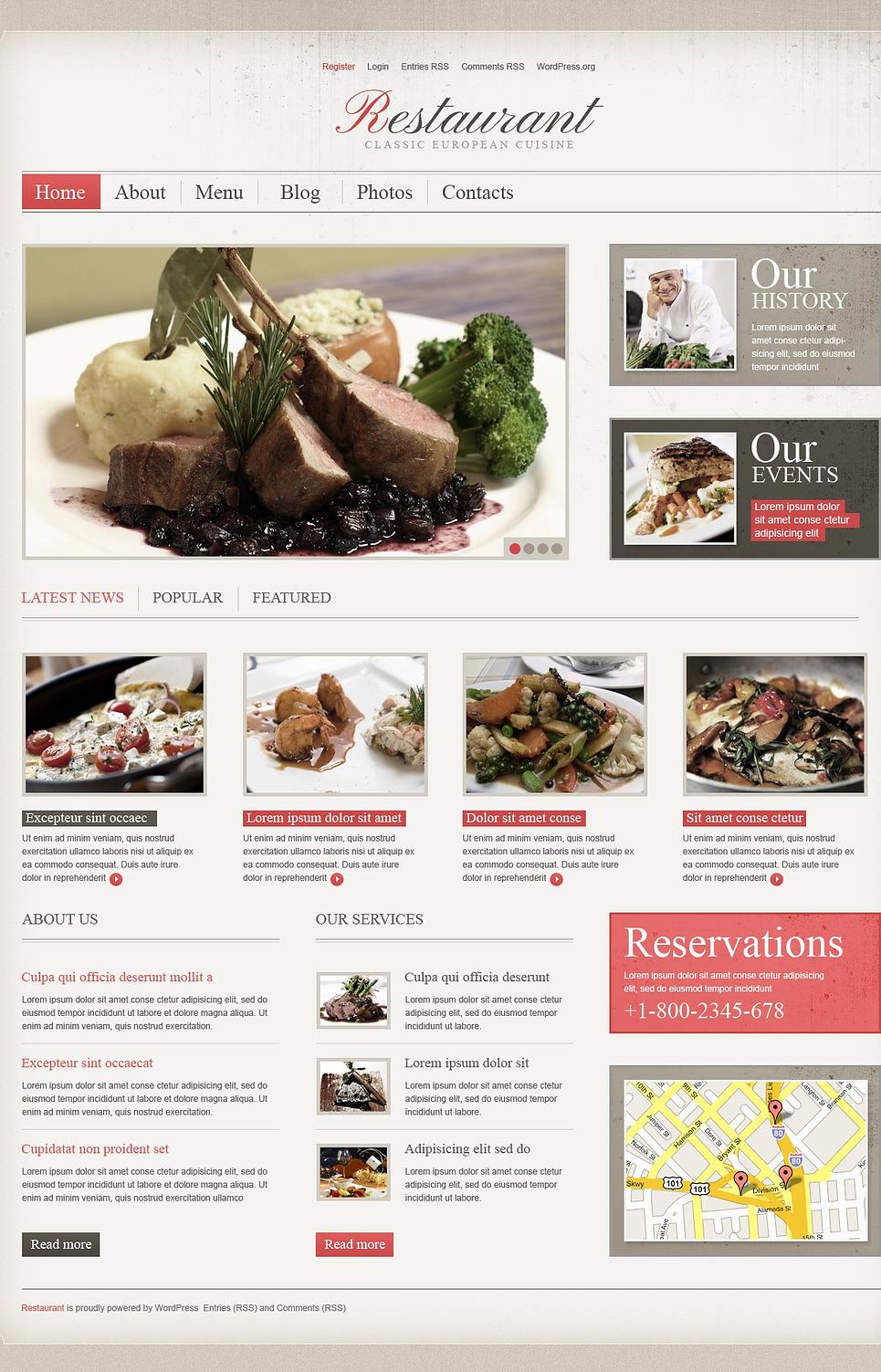 Cherry Cafe and Restaurant WordPress Theme New Screenshots BIG