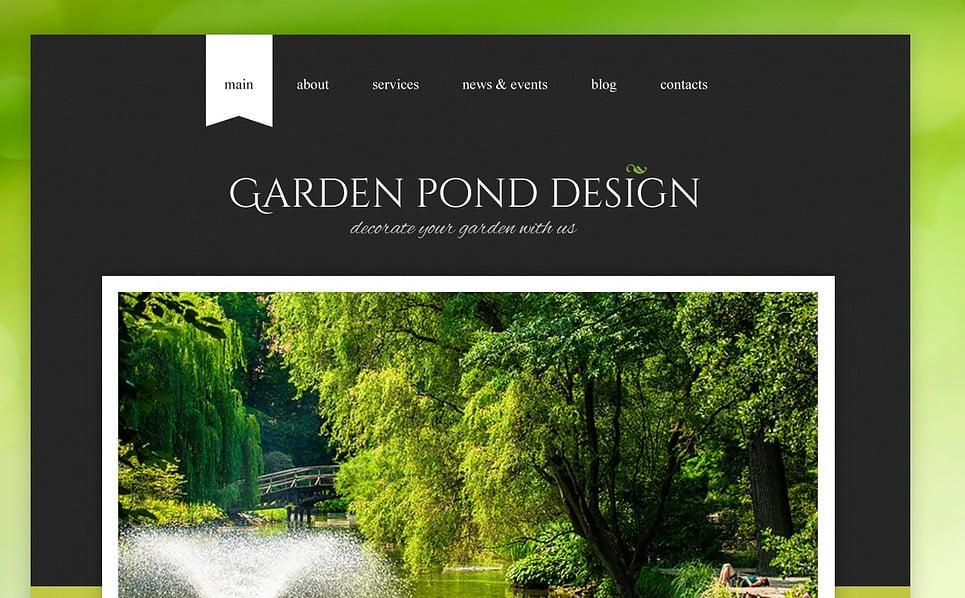 Garden Design Responsive Website Template 43644