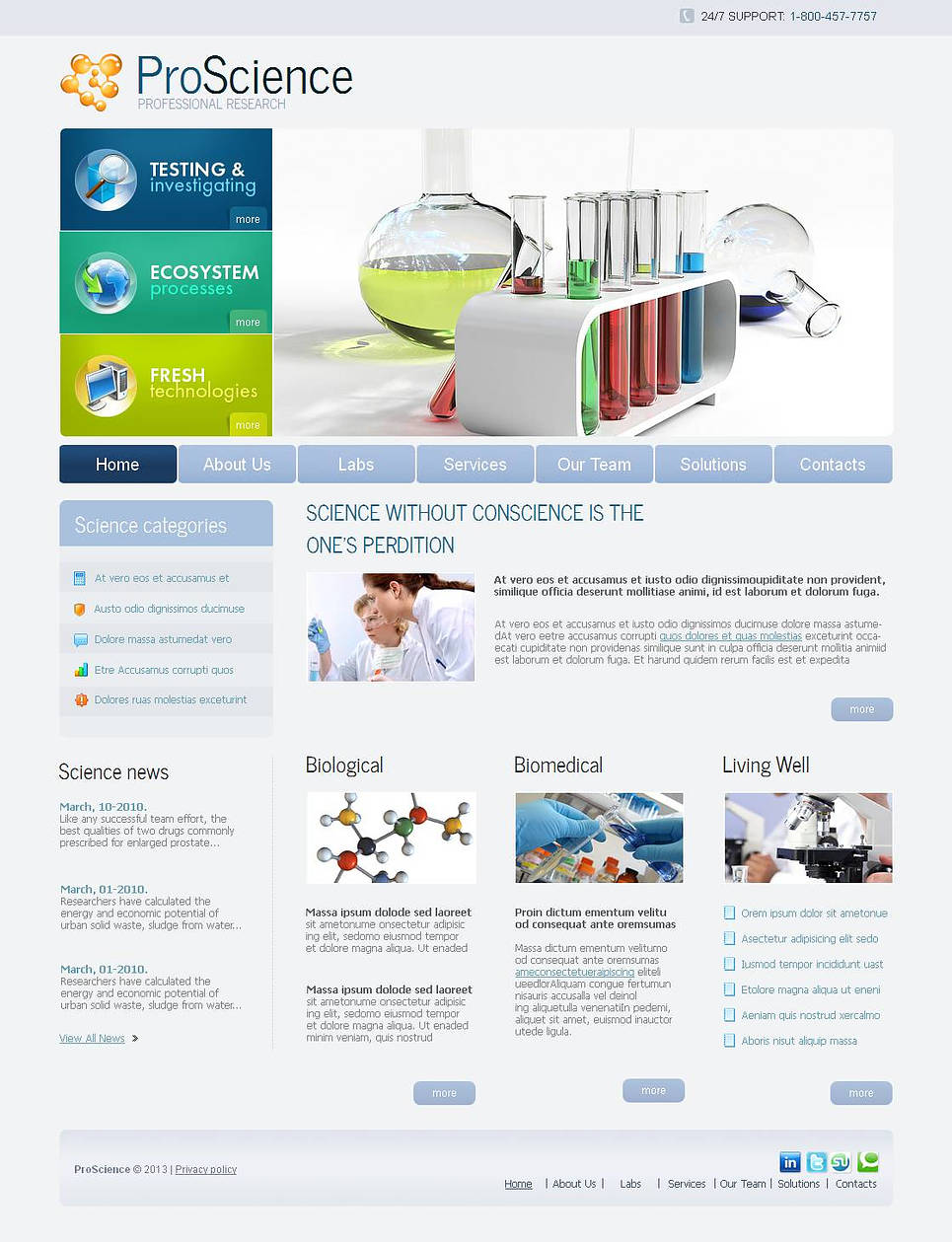 Eco Research Website Template with White Background - image