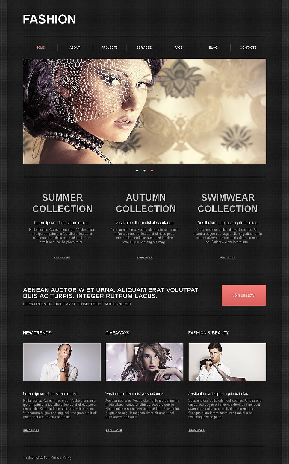 Black Website Template for Fashion Clothing Brands - image