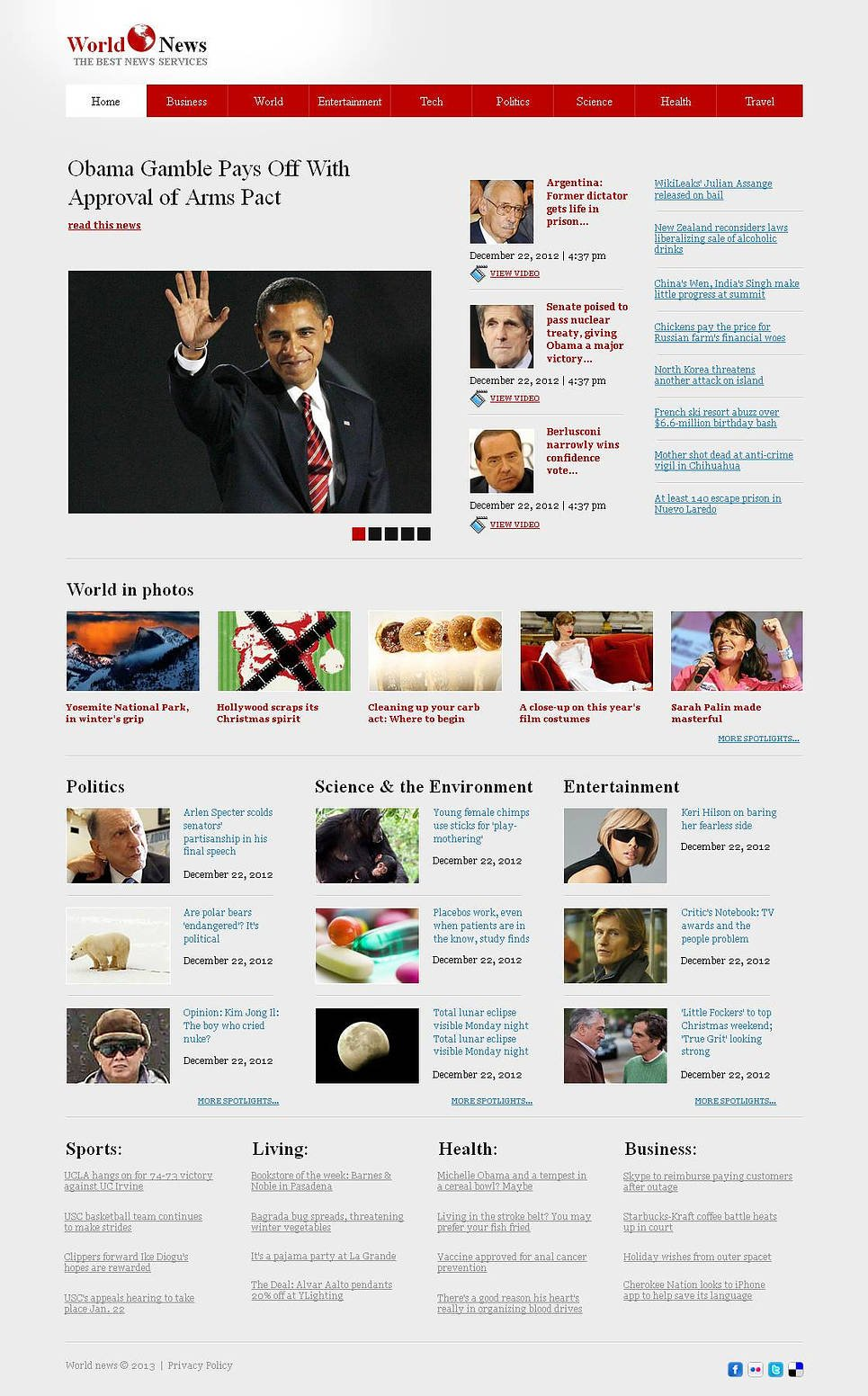 News Website Template Designed in a Newspaper Style - image