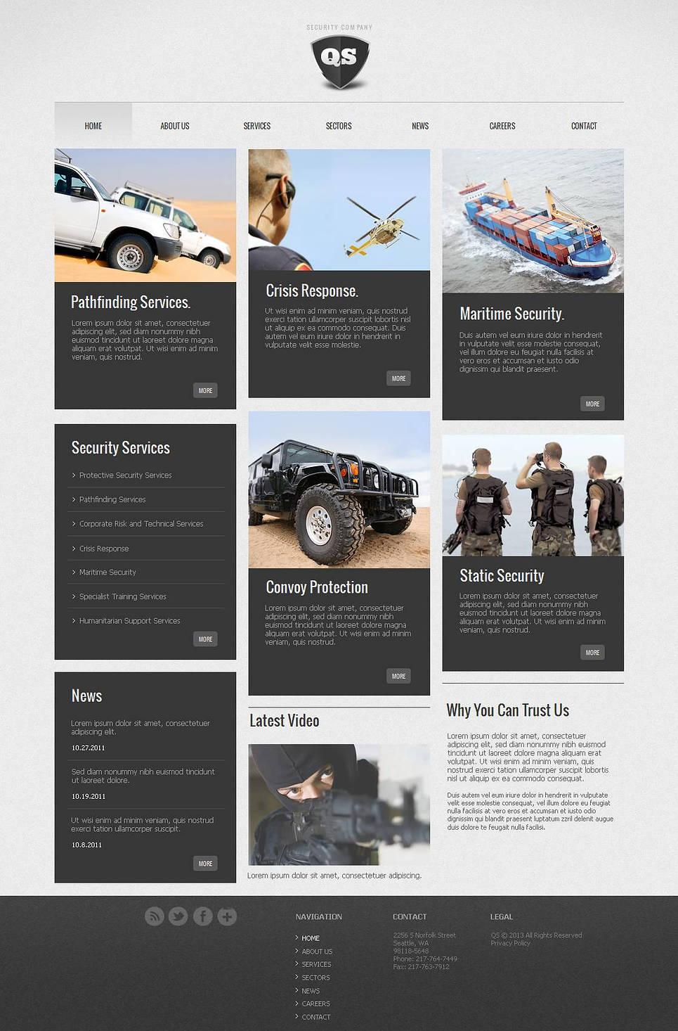 MotoCMS HTML Шаблон #43655 из категории Безопасность - image