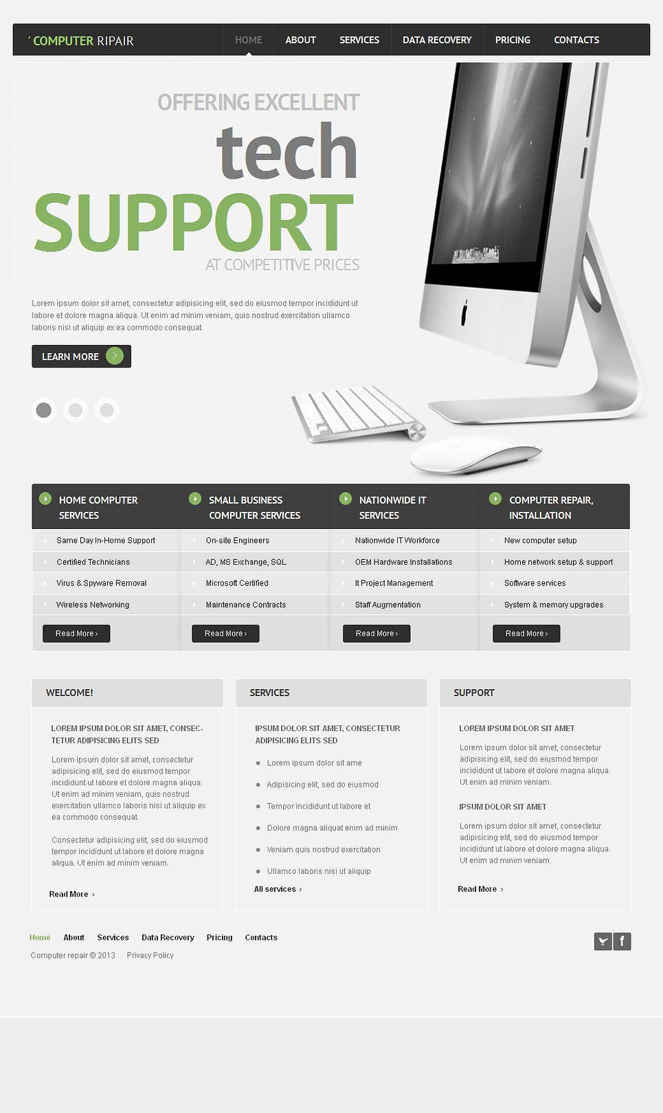 Computer Repair Services Website Template - image