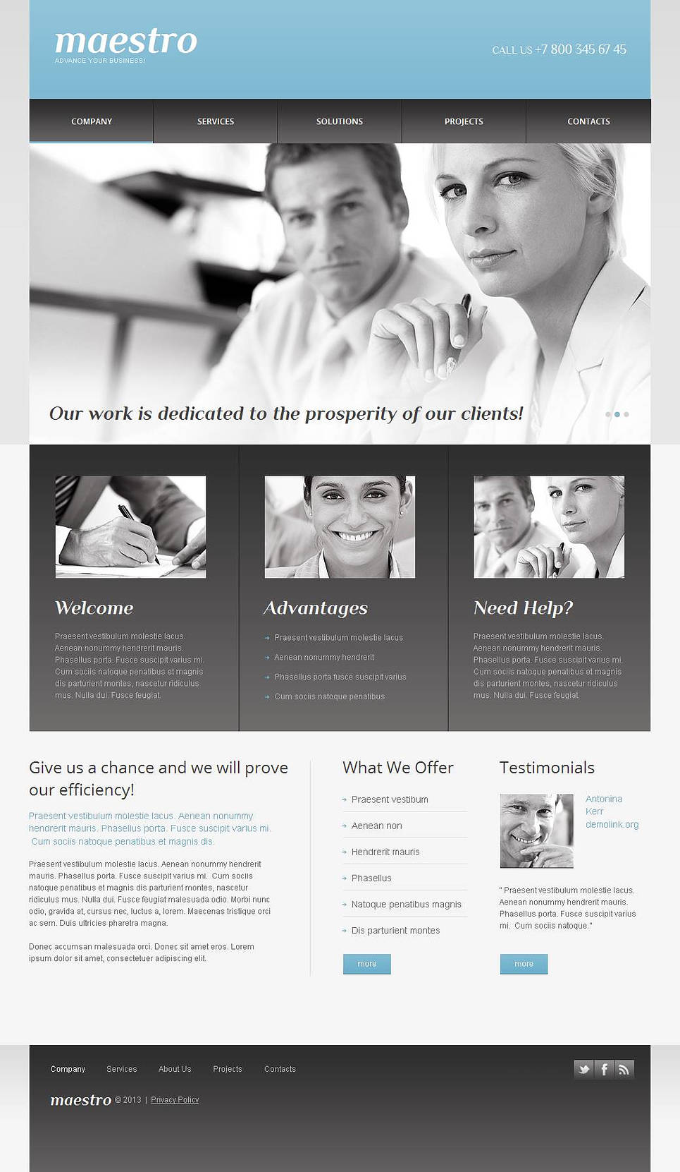 Business Template with Sliding Image Gallery - image
