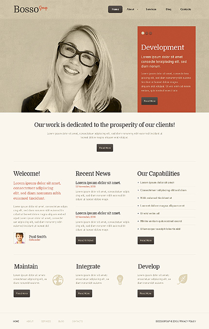 Bosso group - Best Responsive Business WordPress Theme