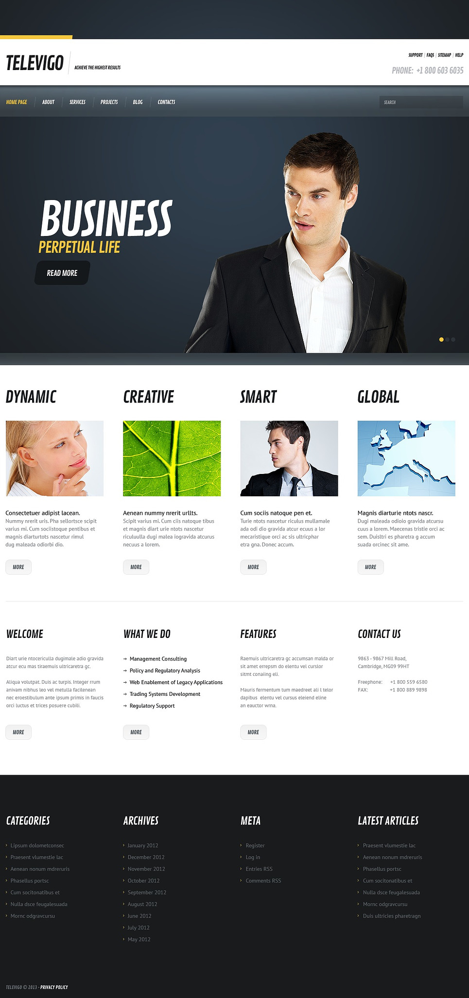Cherry Consulting WordPress Theme New Screenshots BIG